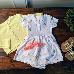 Infant Carter's dress with cardigan